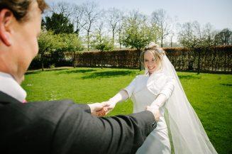 Bruidspaar bij kasteel Crooy