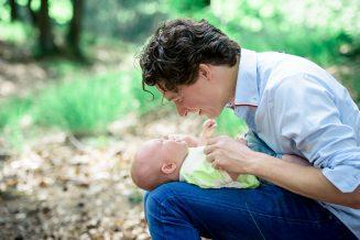 Baby en vader fotoshoot in Nijmegen